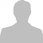 Silhouette of a male headshot