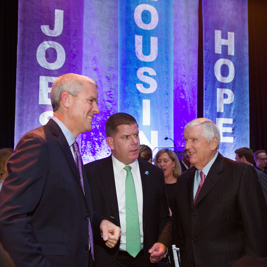 Jack Connors and Mayor Walsh talking at our open door gala